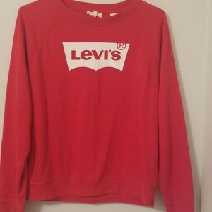 LEVI'S Red Sweatshirt  Size L